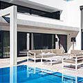 Luxueuze buitenkamer met interieurallures